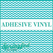 CHEVRON STRIPES PATTERN #1 Turquoise & White Craft Vinyl 3 sheets 12x12 Chevron for Vinyl Cutters