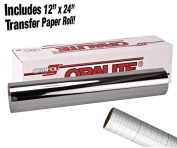ORACAL 351 Silver Chrome Adhesive 30cm x 1.8m Craft Vinyl Roll Including 30cm x 60cm Transfer Paper Roll