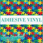 AUTISM Puzzle Pattern Craft Vinyl 3 sheets 6x6 Autism Print for Vinyl Cutters