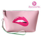OH Fashion Women Travel Cosmetic Bag Sassy Lips, Makeup case organiser, toiletry bag, ideal for storage, beauty, make up brushes, manicure pedicure, for handbag 1 bag