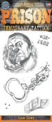 Prison Lock Down 5pc Temporary Tattoo FX Costume Kit, Black White