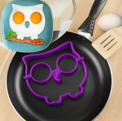 Silicone owl Shape Fired Egg Mould Ring LINGERY Fantastic Fast & Easy Way To Make Perfect Cooking Four Holes Silicone Pancake