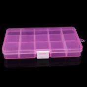 Vibola Plastic 15 Slots Adjustable Jewellery Storage Box Case Craft Organiser Bead