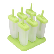 Vibola Moulds Cooking Tools DIY Frozen Ice Cream Pop Moulds 6 Cell Rectangle Shaped Reusable