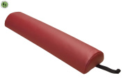 Massage Bolster Pillow + Half Round + Spa Bed Massage Table Cushion +Burgundy