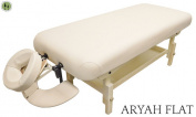 stationery Massage Table + Beige + Bonus Headrest & Arm Shelf + DevLon NorthWest