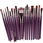 YJM 20Pcs Makeup Brushes Set, Soft Synthetic Foundation Eyeshadow Blusher Beauty Cosmetic Tools