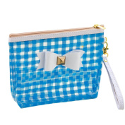 Makeup Bag, Hunzed Bowknot Waterproof Travel Toiletry Pouch Portable Cosmetic Makeup Storage Bag Case