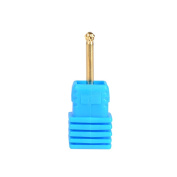 SpeTool Tungsten Carbide Rotary File Nail Drill Bits Ball End For Nail Beauty Art Machine, Golden, Medium Grit, 3*3MM