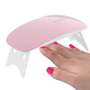 QIMYAR Nail Dryer Curing UV LED Lamp 6W Portable Light for Gel Based Polishes Manicure Pedicure Tools 45s/60s