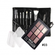 Eyeshadow Palette Makeup Kit, Inkach 9 Colours Cosmetic Matte Eye Shadow Cream Makeup Palette Set with Brush