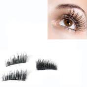 Magnetic False Eyelashes,Elevin(TM)4PCs Women Ladies NEW Ultra-thin 0.2mm Magnetic Eye Lashes 3D Reusable False Magnet Eyelashes Extension