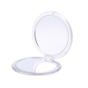 ROUND PMMA COMPACT MIRROR, Double Sided Travel Makeup Mirror with 1x/5x Magnification and assorted colours