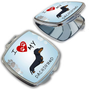 BleuReign(TM) I Love My Dachshund Dog Lover Compact Mirror