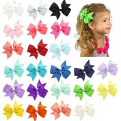 My Lello Medium 10cm Girls Split Tails Boutique Grosgrain Hair-Bow Variety Pack - 23 Bows