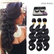 Body Wave bundles Brazilian 7A virgin Hair Bleached Knots Baby Hair extensions weaves 100g/per 3 bundles 100% Human Hair