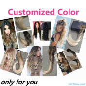 Fshine Customised Colour Reverse Remy Ombre Balayage Hair Extensions Human Hair Thick Hair Extensions Dip Dye Extensions