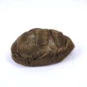 GEX 63Colors Men's HairPiece Toupee Medium Density Wig Human Hair Replacement Systems Vivid Men's Toupee Bella Basement