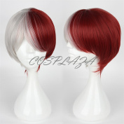 COSPLAZA Cosplay Wig Silver White Red Anime Hair Synthetic Wigs