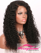 Persephone Pre Plucked 360 Lace Frontal Wig 150 Density Curly Brazilian Remy Full Lace Human Hair Wigs with Baby Hair for Black Women 50cm Natural Colour