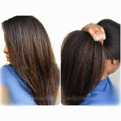 N.L.W. Brazilian virgin human hair full lace wigs for black women Natural black colour Italian kinky yaki Glueless human hair wigs with baby hair 30cm
