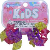 SHALOM - Kids Ponytail Holders - 6 Pack
