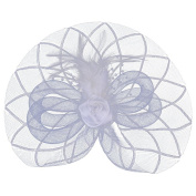Aniwon Fascinator Headband Bridal Hair Accessory Party Hair Hoop Net Cocktail Hat with Hair Clip