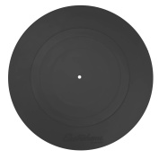Electrohome Turntable Mat (Rubber Black) Durable Silicone Design for Vinyl Record Players