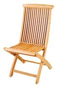 HiTeak Furniture Teak Folding Chair, 49cm by 90cm by 60cm
