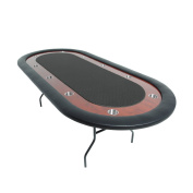 BBO Poker Ultimate Folding Poker Table for 10 Players with Felt Playing Surface, 230cm x 110cm Oval