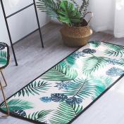 Kelly' Harvest House Non-Slip Kitchen Mat Doormat Runner Rug Set, Bathroom Rugs Carpet Indoor Anti-Skid Area Rug Dining Room Home Bedroom Carpet Floor Mat (45x45CM , 50x145CM)