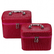 Cosmetic Bag, Hunzed Cosmetic Tool 2PC Multifunction Cosmetic Bag Travel Makeup Case Pouch Toiletry Organiser Holder