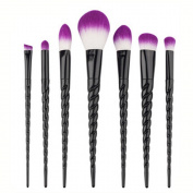 MAANG 7pcs/10pcs Unicorn Make Up brushes Makeup Set Foundation Eyebrow Eyeliner Blush Cosmetic Concealer Brushes for Powder Liquid Cream Makeup Brush Set