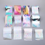 12 Colours/set Starry Sky Nail Foils Nail Stickers Multicolor 420 cm DIY Manicure Nail Art Transfer Sticker Nail Decoration