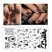 Leewa@ Holiday Themed Nail Art Stamping Plates - Occasions Collection, Halloween+Christmas -6x12cm