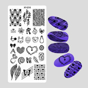 1Pc Nail Stamping Plate Nail Beauty 3D DIY Pattern Rectangle Template