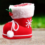 CYCTECH® Ornaments Plastic Flocking Children Christmas Halloween Ornaments Package Bags Shoes Box Boots Candy Gift Box