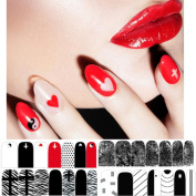 VESNIBA Hot stamping 3D Nail Art Stickers Decals For Nail Tips Decorations