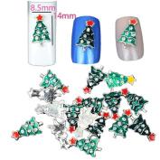 VESNIBA 10PC Christmas Nail Decorate Beautiful Nail Polish Sequins