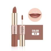 Fullfun Wome Double-End Velvet Matte Lipstick and Lip Gloss Makeup,2 Pcs Set