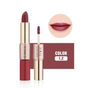 DORIC Long Lasting 2 in 1 Velvet Matte Lipstick Gloss Lip Makeup