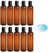 60ml Amber Brown PET BPA-Free Plastic Empty Refillable Cosmo Round Bottles With Disc Caps