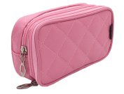 Dreubea Women's Makeup Cases Toiletry Kits Cosmetic Bags Organiser Pouch Pink
