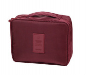 Dreubea Makeup Cosmetic Bags Travel Toiletry Kits Organiser for Women and Men Wine Red