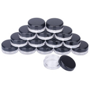 3g 3ML Empty Plastic Cosmetic Containers Pot Jars With Lids for Creams Sample Makeup Storage 100 Pcs