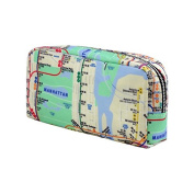 All-Over Map Cosmetics Case