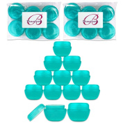 Beauticom 30G/30ML Teal Frosted Container Jars with Inner Liner & Lid for Scrubs, Oils, Salves, Creams, Lotions, Makeup Cosmetics, Nail Accessories, Beauty Samples - BPA Free