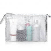 Clear Comsetic Makeup Pouch Bag Case, Portable Storage Toiletry Travel Accessories Organiser