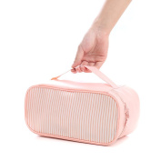 Large Travel Cosmetic Makeup Pouch Bag, Women Haning Toiletry Organiser Bags with Zipper, Waterproof Pink