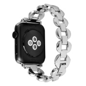 HP95(TM) Luxury Stainless Steel Link Bracelet Watch Band Strap for Apple Watch Series 1/2 38MM